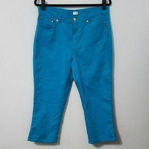 Beautiful blue Jaclyn Smith capri jeans, sz 10